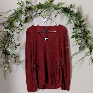 Express Burnt Orange Sweater Pullover